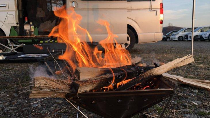 学校橋で薪割りして焚き火キャンプ&いちごの里よしみへ!